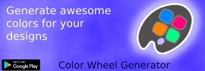 Generate awesome color for your design with color wheel generator